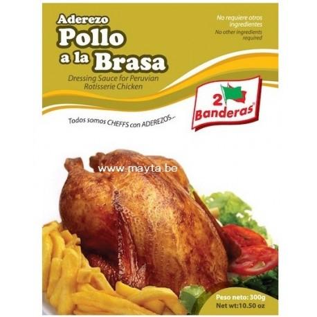 """POLLO A LA BRASA """"2 BANDERAS"""" 300 g"""